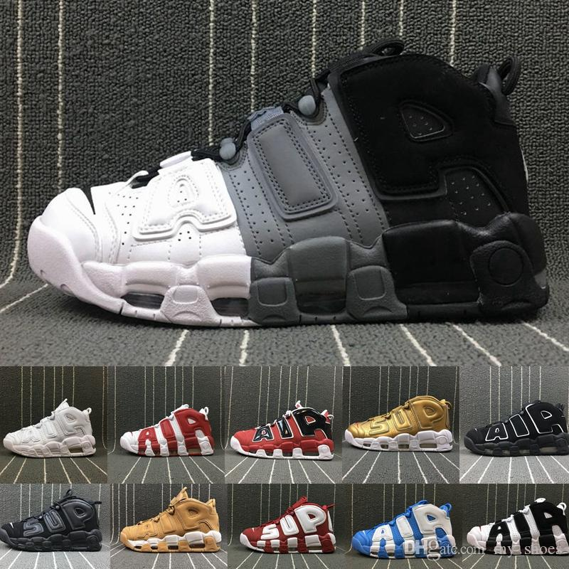 81587fc4251 2018 Air More Uptempo 96 QS Olympic UNC White Red Men Basketball Shoes 3M  Mens Scottie Pippen shoes Designer Sneakers Luxury Brand Trainers