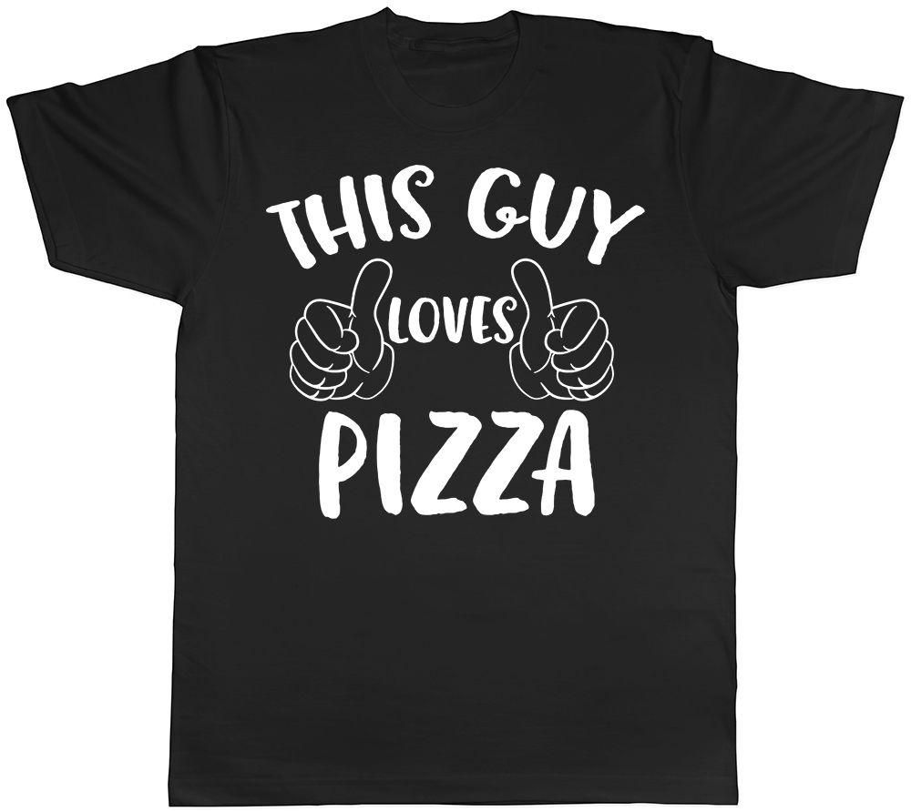 This Guy Loves Pizza Mens T Shirt Slice Margherita Cheese Birthday Gift Tee Men Print Cotton Short Sleeve Of The Day Link Shirts