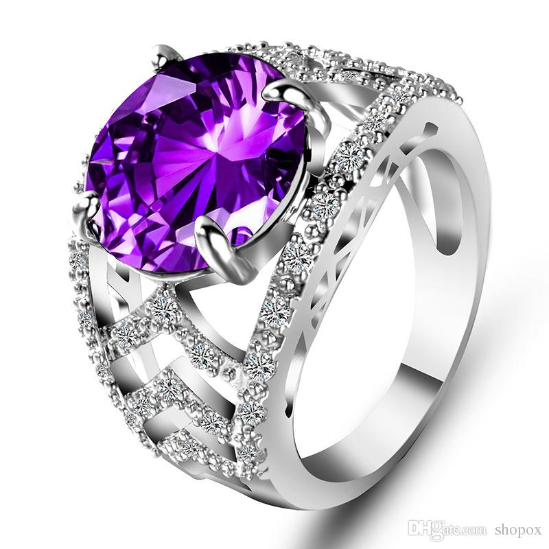 Ring Exaggerated Diamond Ring Creative Jewelry Gold-plated Diamond Jewelry Fashion Ladies Handmade Jewelry 5 Size
