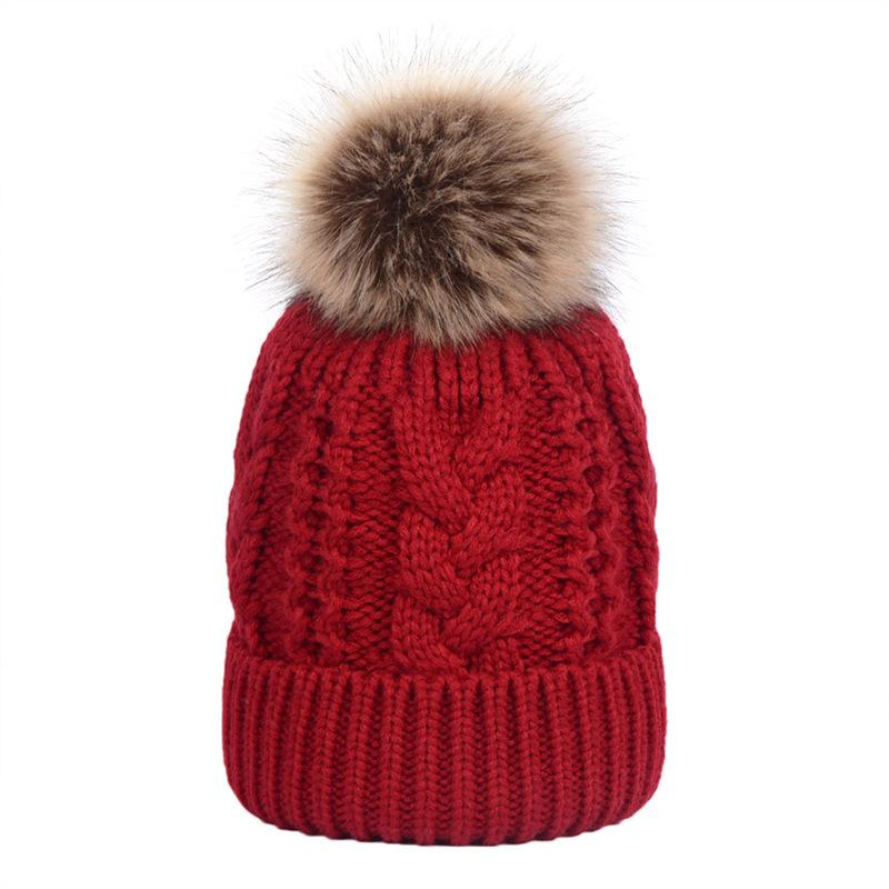 Winter Knitted Hat Women Detachable Pom Pom Beanie Hat Soft Warm Faux Fur  Caps for Cold Weather AA10067 Skullies   Beanies Cheap Skullies   Beanies  Winter ... 09f803122b24