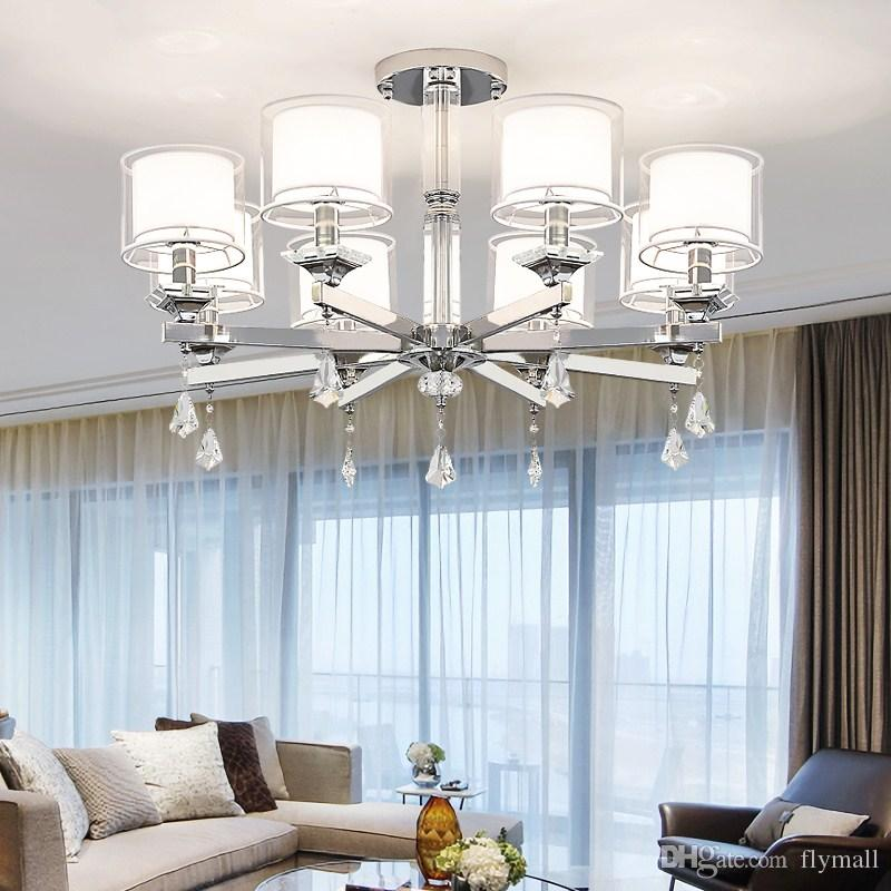Surprising Modern Chrome Metal Led Ceiling Lights Lustre Crystal Bedroom Led Lamp Living Room Chandelier Ceiling Light Fixtures Acrylic Wall Sconce Download Free Architecture Designs Grimeyleaguecom