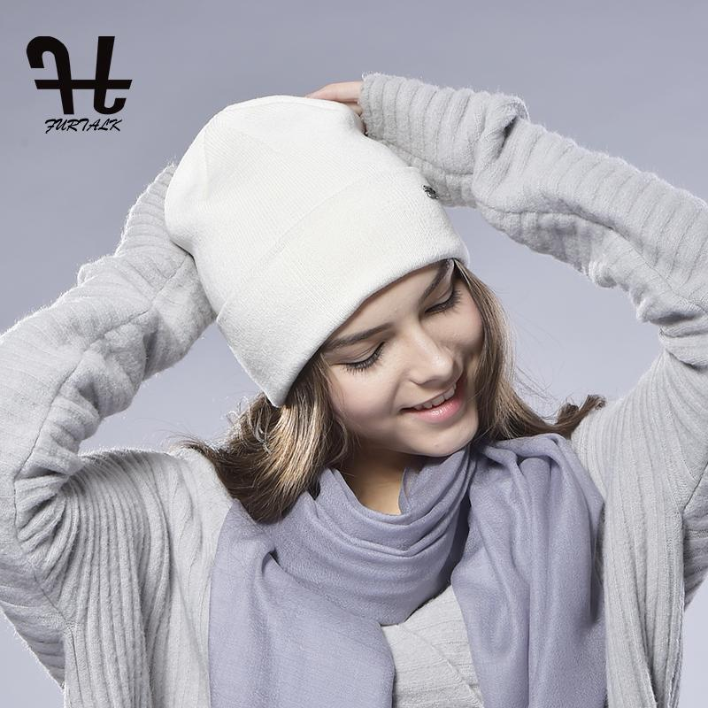 401f6f9bc80 2019 FURTALK Unisex Women S Spring Wool Watch Cap Spring Beanie Knitted Hat  Skull Cap Women Wool Hat From Yiquanwater