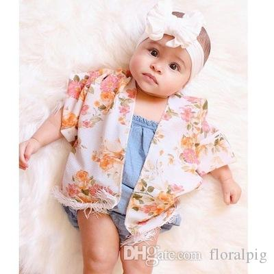 Kids Baby Girl Tassel Poncho Cape New European Fashion Children Pink Black Floral Coat Poncho