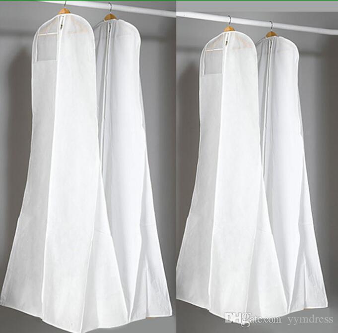 Surper Big 180 cm vestido de boda vestido de alta calidad bolsa de polvo blanco larga ropa cubierta de almacenamiento de viaje cubiertas de polvo
