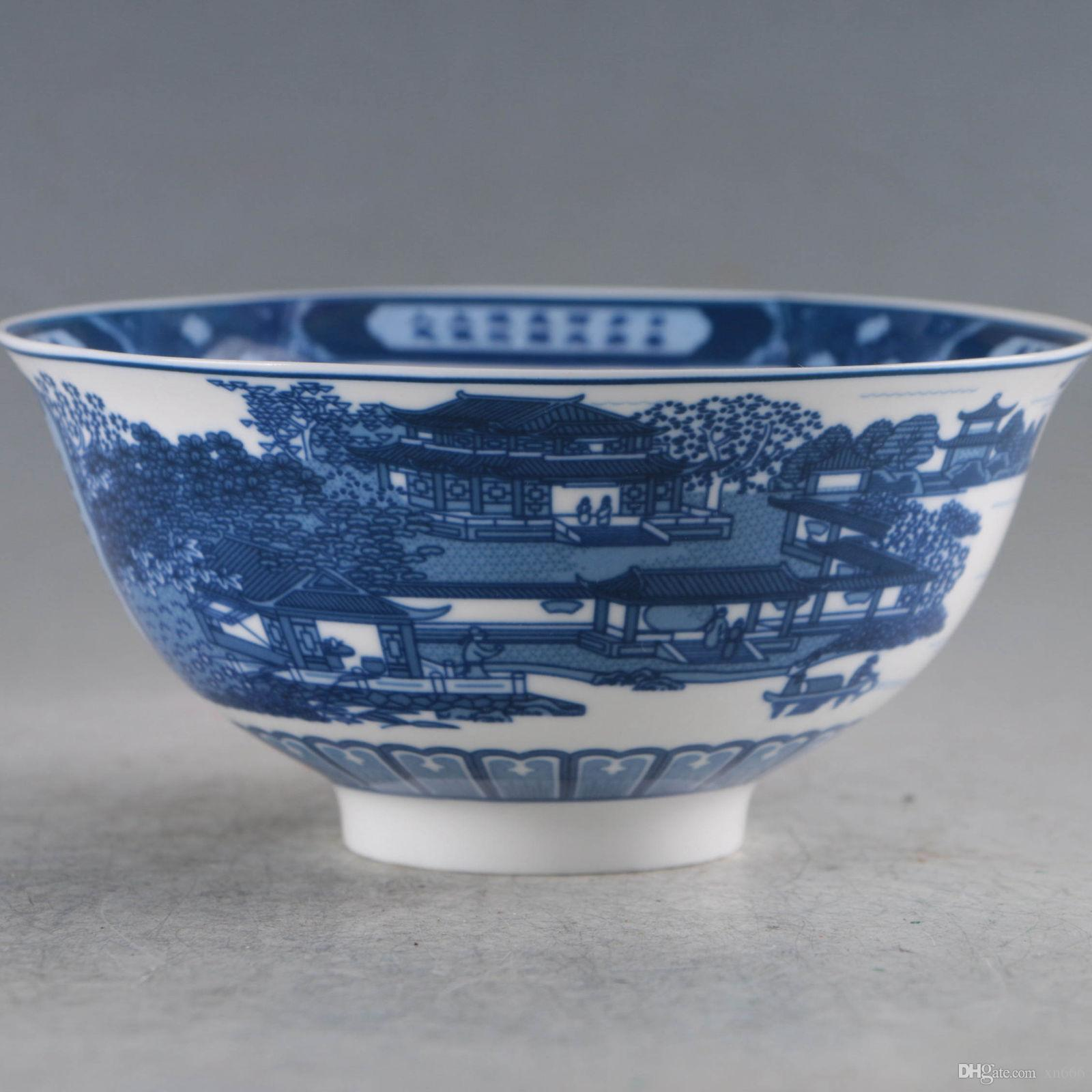 Chinese Porcelain Handmade Bowls Made During The DaQing Qianlong Period