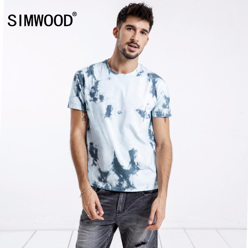 1c9a34a173521 20187 SIMWOOD New 2018 Summer T Shirts Men 100% Pure Cotton Brand Clothing  Casual Print Tees Plus Size Slim Fit Fashion Tops 180354 Tee Shirts Mens T  Shirts ...