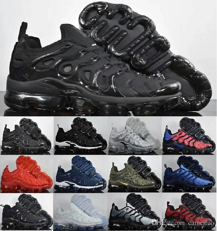Compre TN Plus Sapatos De Grife Homens Almofada De Ar Esporte Atlético  Triplo Preto Barato Mens Sneakers Caminhadas Jogging Sapatos Formadores Ao  Ar Livre ... 0b3de264ebb39