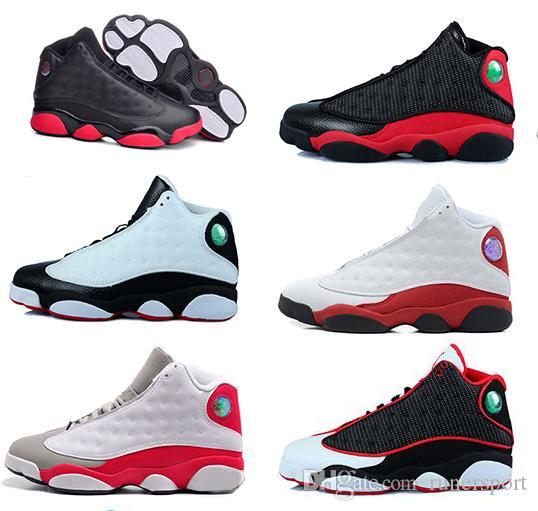 High quality 13s XIII mans Basketball Shoes Bred Navy Game hologram grey toe Flint Grey Athletics Sport Sneaker Boots