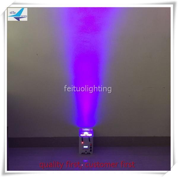 6 pçs / lote 2017 Iluminação de palco mini 4x12 W 6in1 rgbwa + uv wi-fi alimentado por bateria levou barra de luz par pode