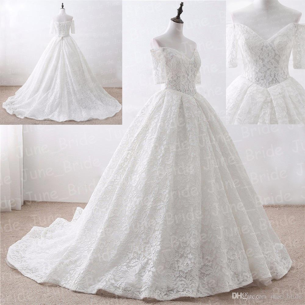 Discount Real Image Pallas Haute Lace Boho Ball Gown Wedding Dresses ...