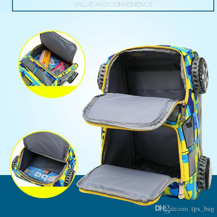 Модель автомобиля 3D колесо рюкзак Рюкзак камуфляж форма школьный дети рюкзак спортивная школа сумка открытый рюкзак