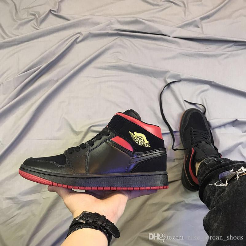 hot sale online 724ba 9ad52 2019 Mid 1 1s Last Shot Men Women Basketball Shoes Black Red Yellow Wings  Logo Sports Sneakers Designer Trainers Shoes Size 5.5 13 From  Nike jordan shoes, ...