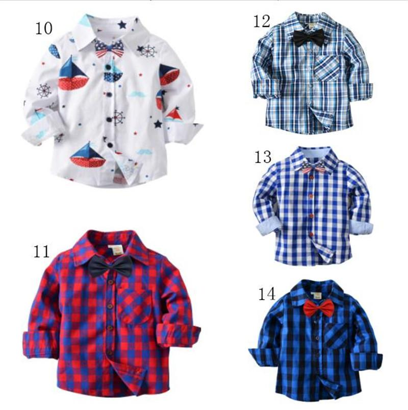 7c3a6f7c4 Plaid Shirts Kids Striped Shirts With Bownot Cosplay Long Sleeve England  School Trend Costumes Children Clothes Tops Blouse Casual Clothing Online  with ...