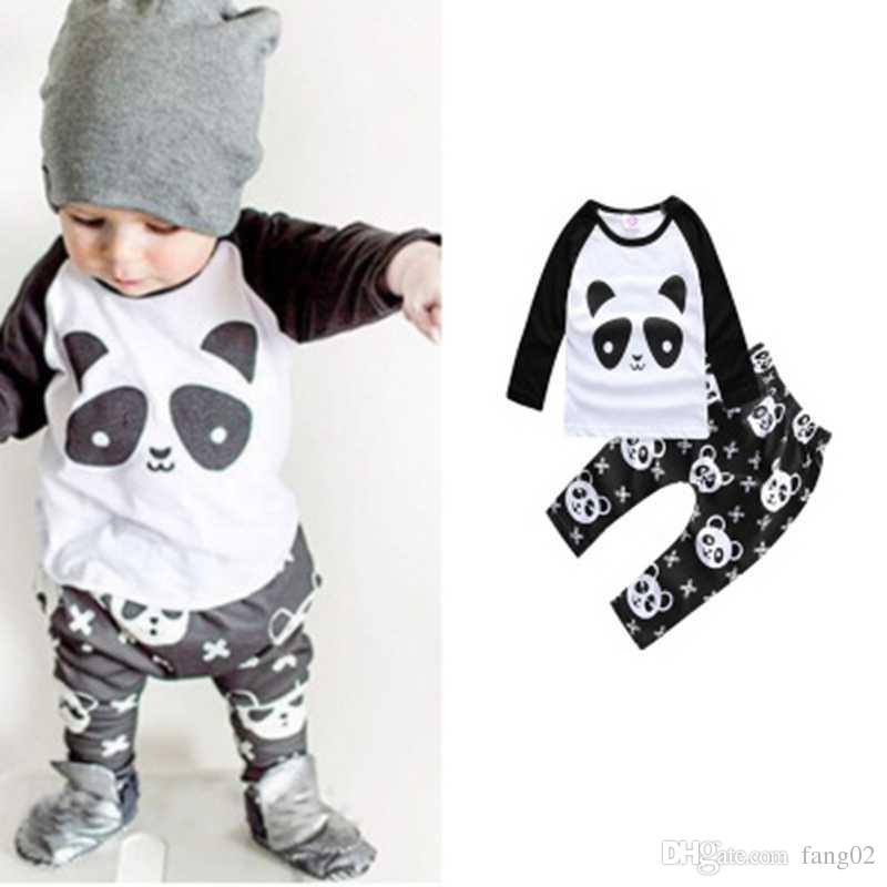 d4cec4dc3042 Fashion Baby Clothes Suits Children 2-Pieces Clothing Sets Cotton ...
