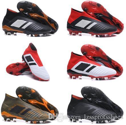 dfd1fdf77 2019 Predator 18+ 18.1 FG Soccer Cleats Chaussures De Football Boots Men  High Top Soccer Shoes Predator 18 Cheap New Hot From Lzssprotsshoes