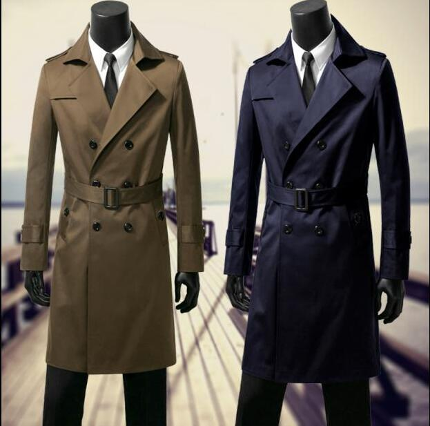 dc753650c 2018 new designer mens trench coats man long coat men double-breasted  clothes slim fit overcoat long sleeve clothes youth korean