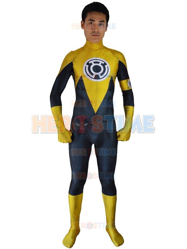 3d printed yellow lantern costume sinestro corps cosplay superhero