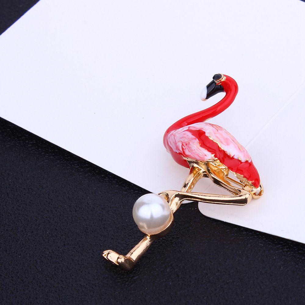 2018 Nuovo smalto Flamingo Cartoon spilla spilla collare borsa spille gioielli le donne ragazza
