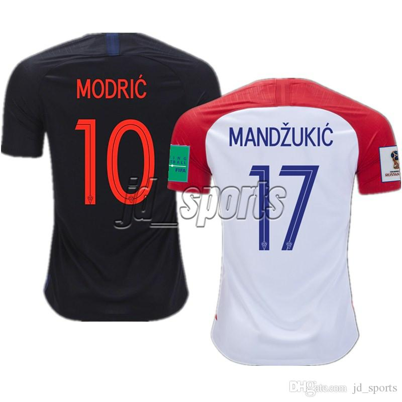 2018 World Cup Croatian Futbol Camisa Rakitic Modric Kovacia Soccer ... f223bd410c7c8