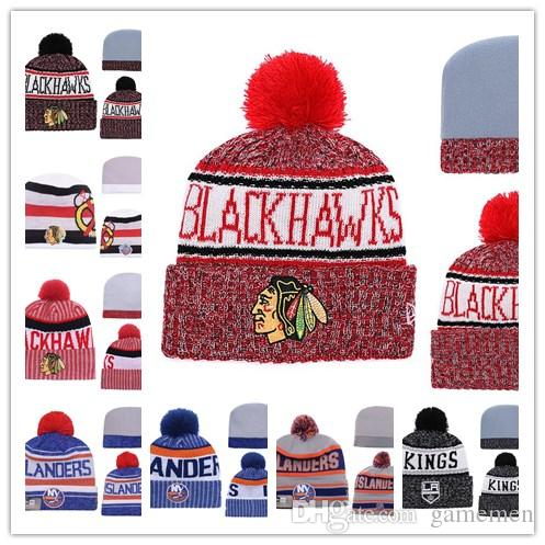 180d523d17f96a 2019 Winter Beanie Hats Chicago Blackhawks Ice Hockey Knit Beanies  Embroidery Cap Embroidered NEW JERSEY DVILS Stitched Hats One Size From  Gamemen, ...