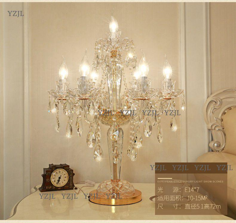 2019 Crystal Table Lamps For Bedroom Top K9 Crystal Table