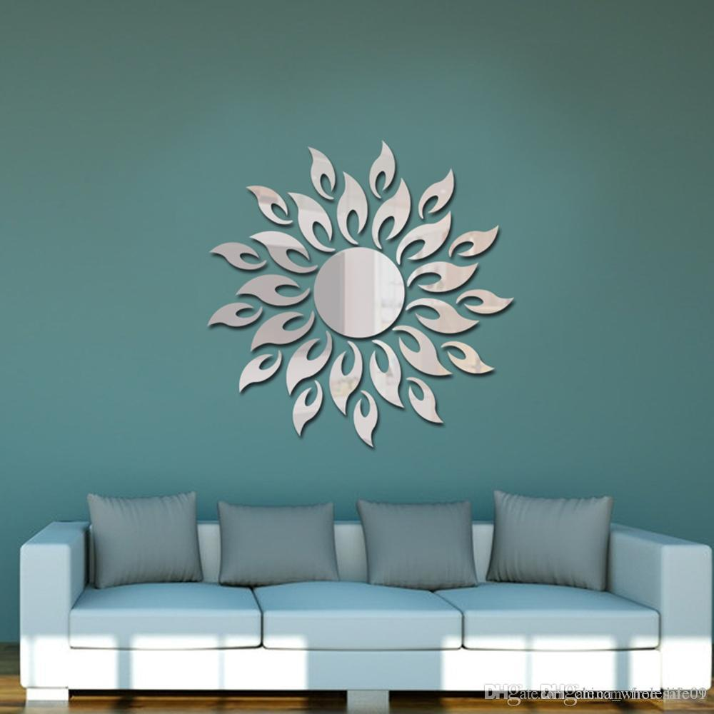 Acrylic Wall Mirror Stickers Wall Stickers Mirror Style Removable