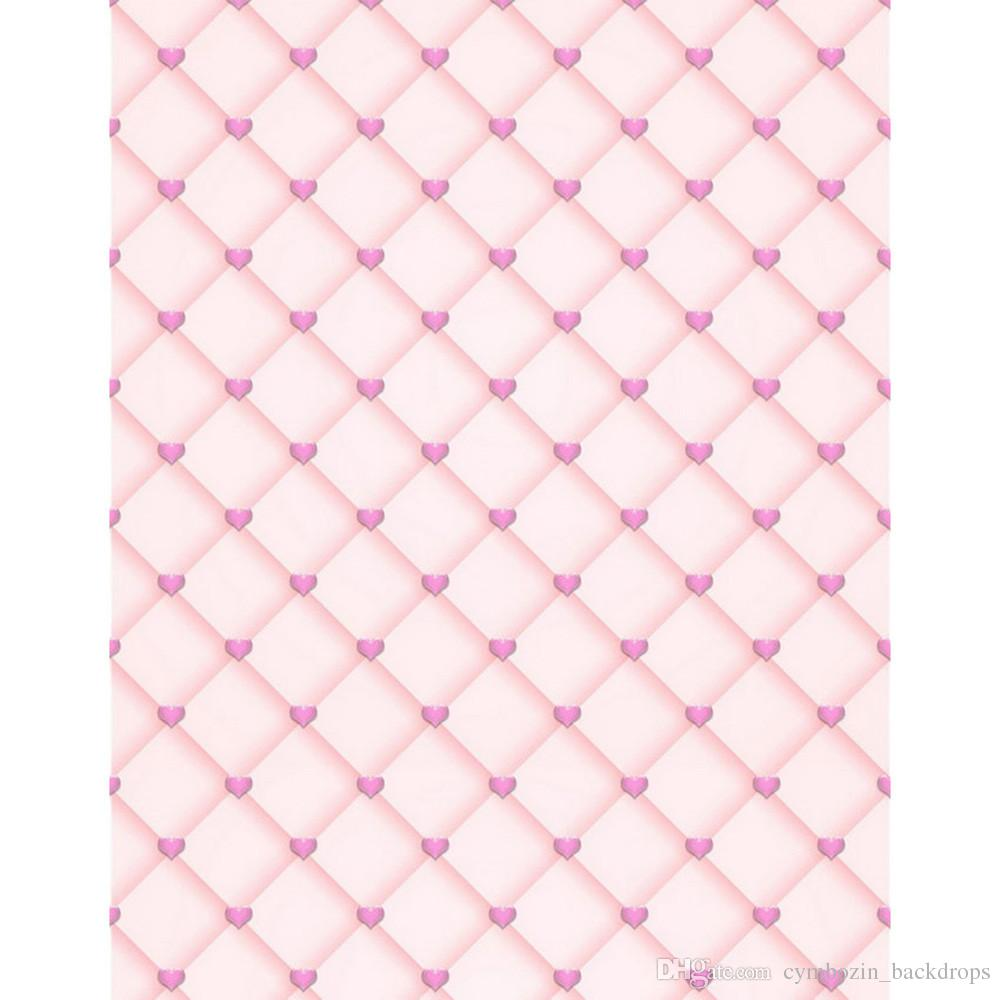 7a9b7c748be5 2019 Light Pink Color Headboard Photography Backdrops For Baby Newborn  Printed Love Hearts Wedding Valentines Day Photo Studio Backgrounds From ...