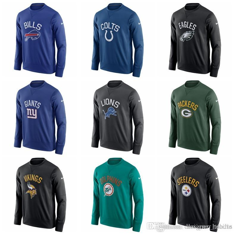 new products 929a6 479b4 mens sweater Eagles Steelers Colts Giants Lions Packers Sideline Circuit  Performance Sweatshirt Hoodies 100% Cotton