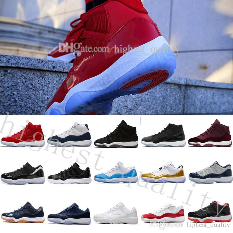 Cheap 11 Concord Bred Legend Blue Gamma Blue Space Jam 11 Mens Basketball  Shoes Men Women Chicago Gym Red 11s Sneakers With Box US 5.5 13 Sports  Shoes ... 23929b046f