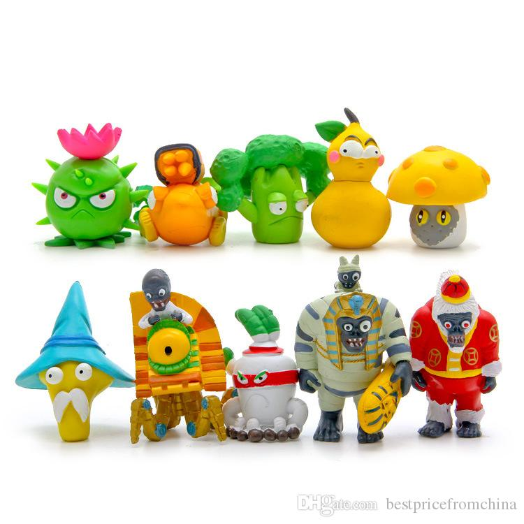 10Pcs Set Plants vs Zombies 2 Toys Game Role Action Figures Display Toys  PVC Decorations New 8th Version