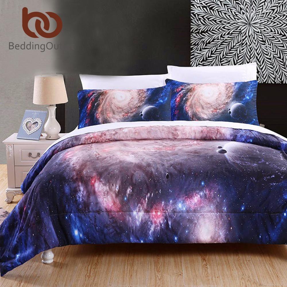 Beddingoutlet Comforter Set 3d Star Galaxy Duvet With Pillowcaes