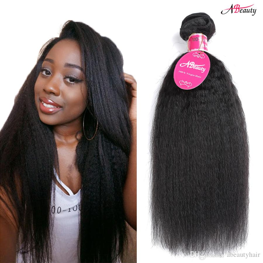 Malaysian Virgin Hair Weave Yaki Hair 3 Bundles Grade 8a Malaysian