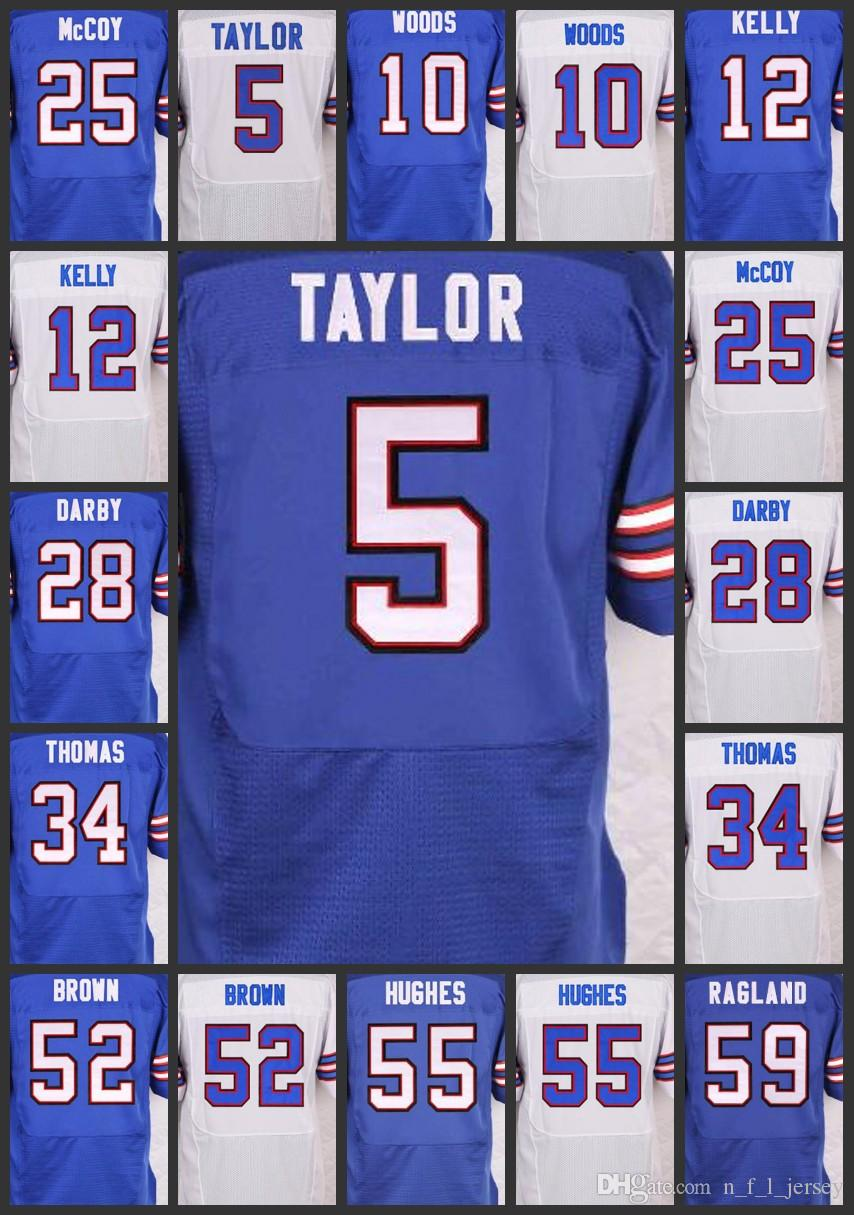Buffalo Men Bills Jersey  5 Tyrod Taylor 34 Thurman Thomas 52 Preston Brown  59 Reggie Ragland Woman Youth Embroidery Jerseys Online with  27.22 Piece  on ... 4dbc5bb01