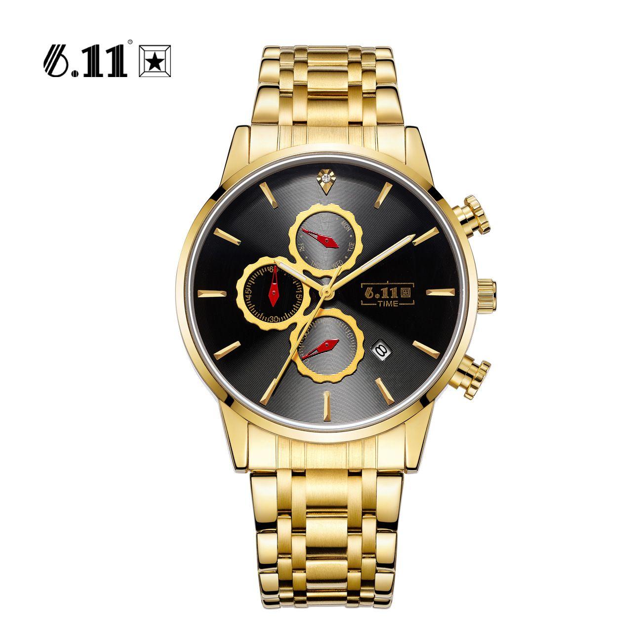 7298794ca545 Compre 6.11 Reloj Para Hombre Reloj De Cuarzo Para Hombre Reloj Calendario Para  Hombre Con Correa De Acero Para Hombre Reloj Deportivo Resistente Al Agua  De ...