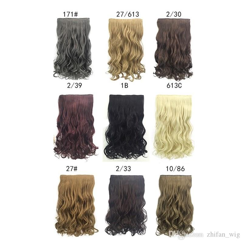 ZhiFan 20inch clip curly hair extension colours hair extensions wavy 613 charming natural wave long xtensions