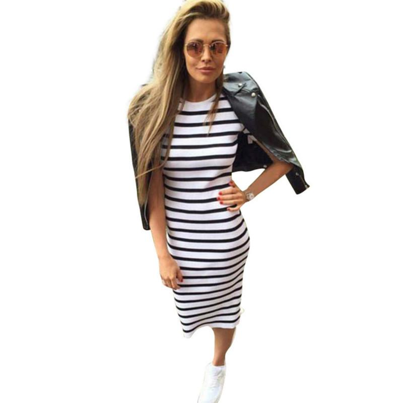 39dc589015b Acheter 2018 Summer Fashion Dress Summer Women Maxi Longues Slim Robes  Casual Loose Cotton Sundress Pour Femme De  11.65 Du Estartek2