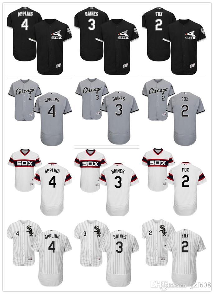 e33cb107 2019 Custom Men'S Women Youth Chicago White Sox Jersey #4 Luke Appling 3  Harold Baines 2 Nellie Fox Blue Grey White Kids Baseball Jerseys From  Gzf608, ...