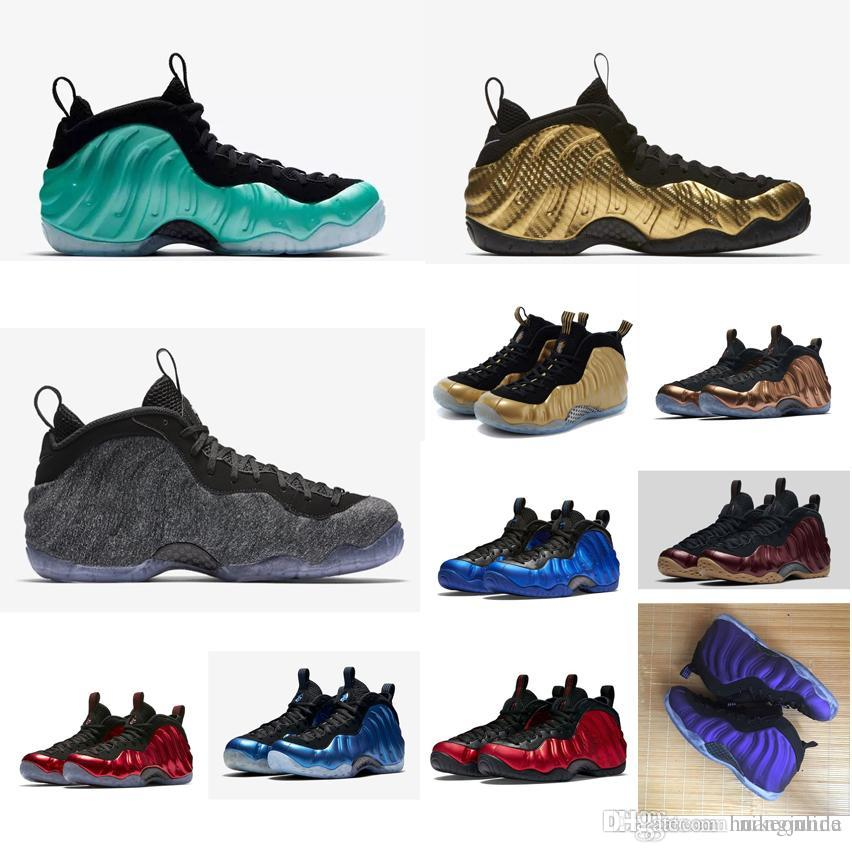 separation shoes eb34f 5b663 2019 Cheap New Men Penny Hardaway Basketball Shoes One Purple Metallic Gold  Red Black Blue Green Maroon Air Flights Foams Sneakers Boots For Sale From  ...
