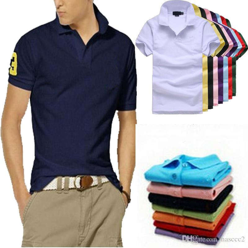 c4c6dd523f6 2019 Fashion Solid Color Polo Shirt Men Camisa Polo Masculina 2018 Brand  New Slim Fit Short Sleeve Polo Shirts Casual Polos Hombre From Nasccc2