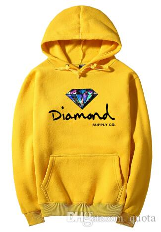 2018 Diamond Supply Co Hot Mens Hoodies Classic Foundation Diamond Logo Hoodies Five different Colors With Pocket