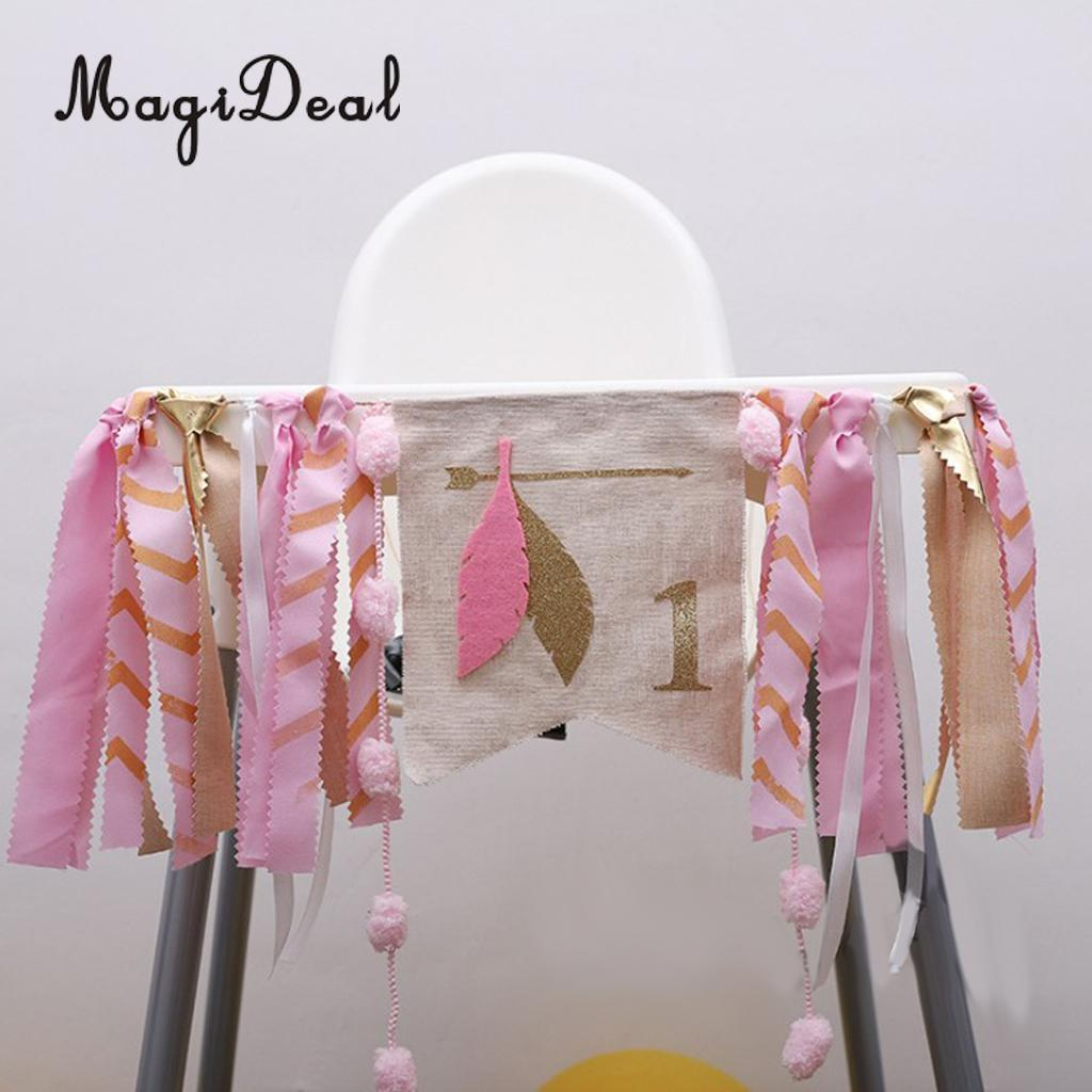 2019 Wholesale Shabby Chic Baby Kids 1st Birthday Highchair Banner Rag Tied Toddle Room Cake Smash Wall Decorations Photo Prop From Chengdaphone06