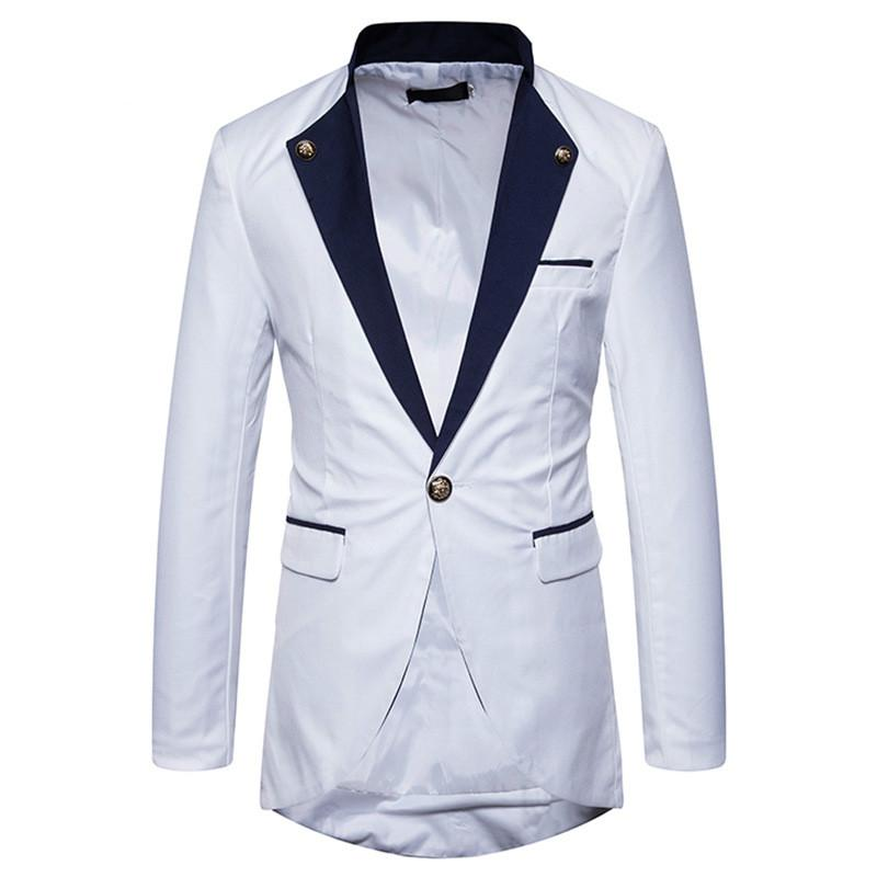 595f890164 2019 Men S Slim Fit Dress Suit Single Breasted One Button Tuxedo Blazer  Jacket 2018 Spring New Dinner Party Blazers Stage Costumes From Apparelone
