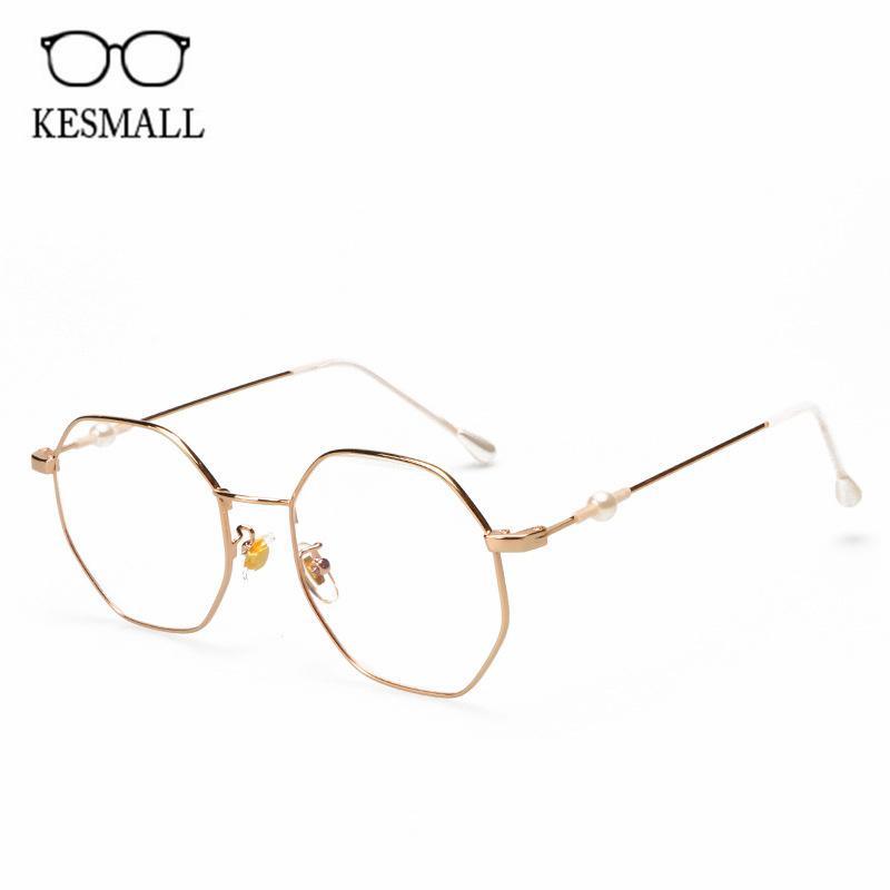 3cf921c3ae0 2019 KESMALL Designer Polygonal Optical Eyeglasses Frame Men Computer  Gaming Eyewear Frames Women Fashion Clear Lens Glasses XN910 From  Enchanting11