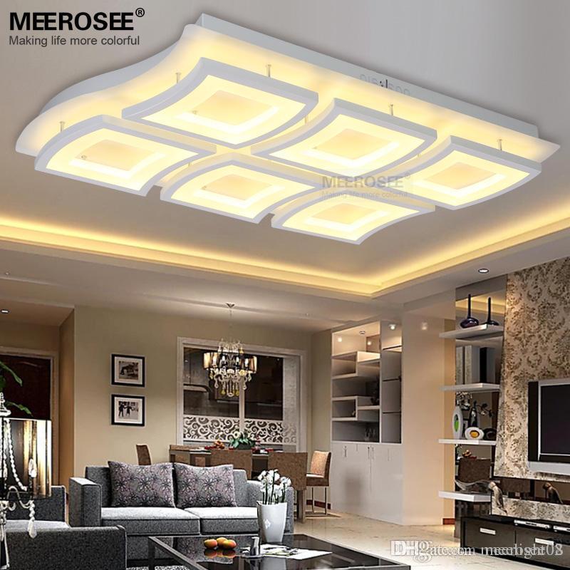 Großhandel Zeitgenössische LED Rechteck Deckenleuchte Weiß Acryl LED ...