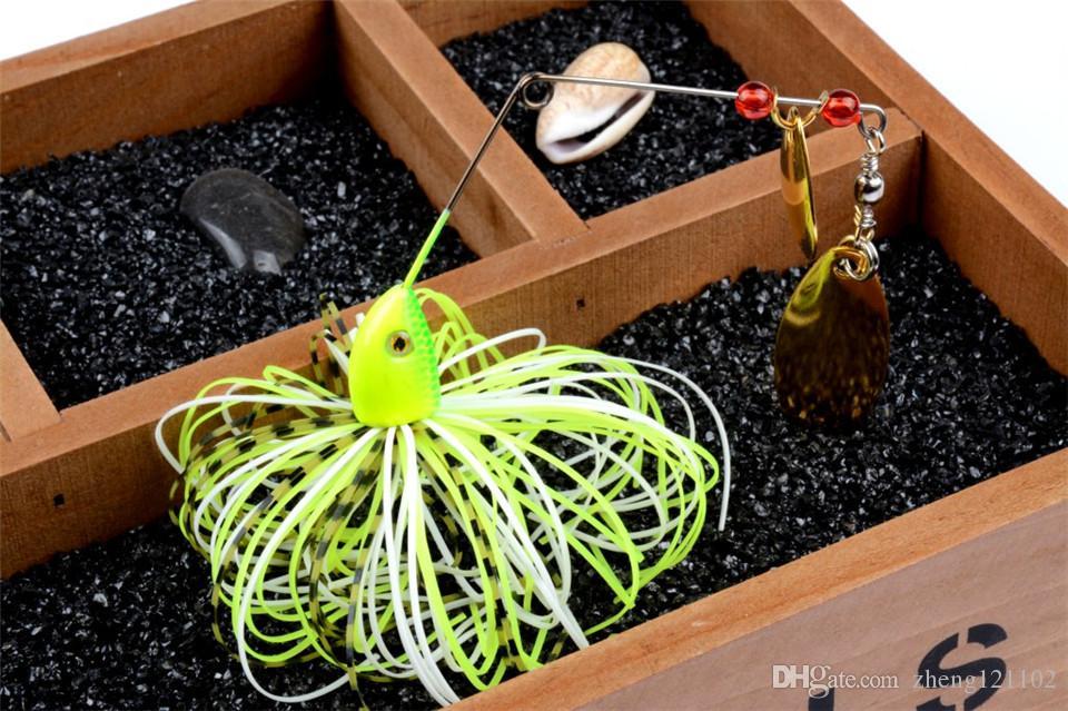 4 Adet 24g Spinnerbait Metal Balıkçılık Cazibesi Bas Crankbait Yem Mücadele Krank Kanca Vissen Harde Spinner Lokken Pike Bas Pesca