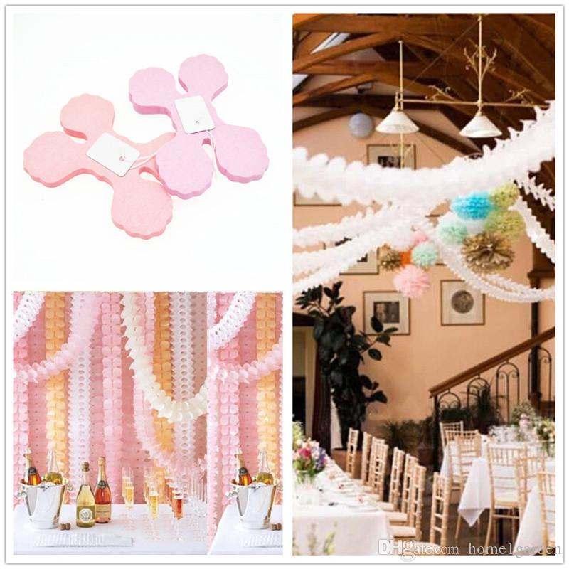 3.6M Four-leaf Clover Paper Lanterns Wedding Kid Birthday Party Decorations Flower Paper Lanterns Festive Supplies