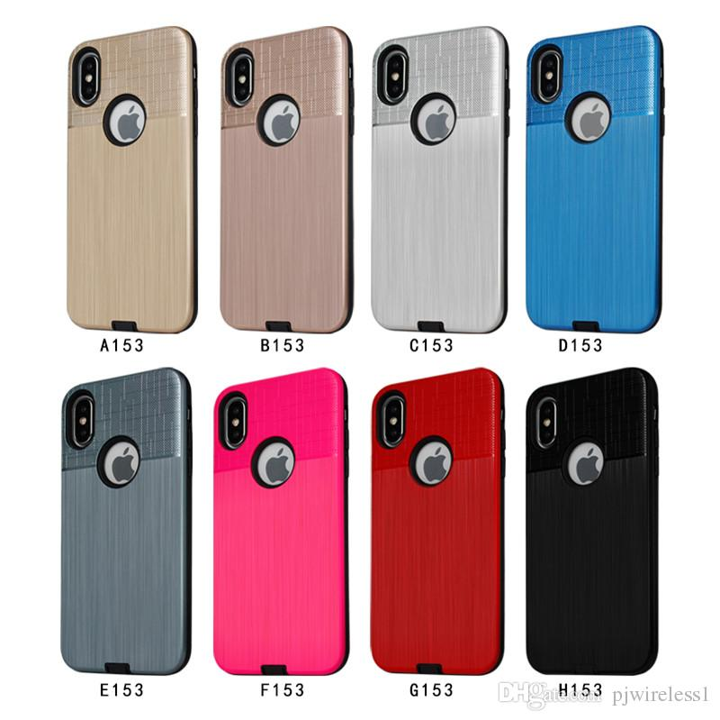 new styles 93653 c6c6d For Alcatel 3V 5099 Hybrid Brushed Armor Case For Motorola Moto E5 Dual  Layer Protector Cover A