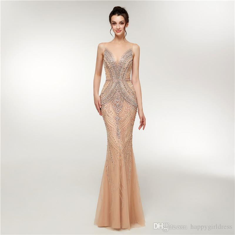 f4740cfdd8a Luxury Mermaid Prom Dresses Long 2019 New Heavy Crystals Beaded Arabic  Elegant Woman Formal Party Evening Gowns Prom Dresses Usa Prom Dresses  Websites From ...