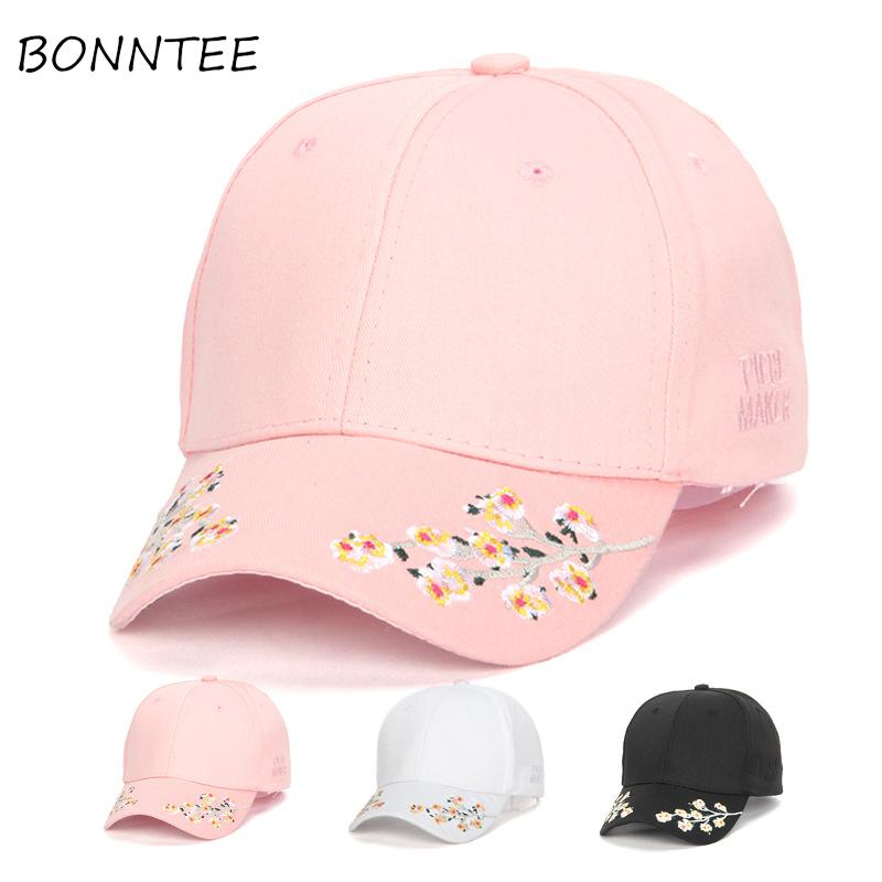6a4263f82c2 Women Caps New Casual Floral Embroidery Baseball Cap Women Colorful Chic  Fashion Daily Korean Style All Match Comfortable Cute Basecaps Hats For Sale  From ...
