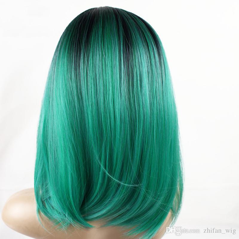 ZF Gerade Bob Haircuts Perücken Hitzebeständige Kunsthaarperücke Afroamerikaner Frauen Perücke Neue Haar Für Frauen